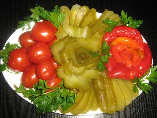 Украшения для салатов своими руками фото видео