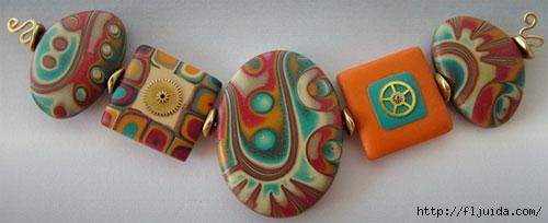 Украшения из полимерное глины своими руками