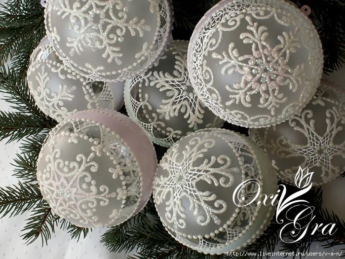 Роспись новогодних шаров своими руками фото