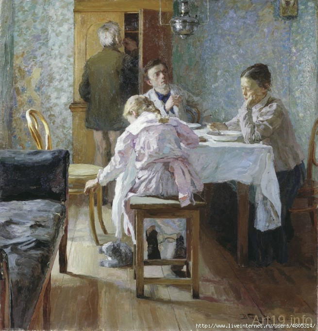 Бакшеев Василий Николаевич. За обедом. Неудачники. 1901 год (655x680, 271Kb)