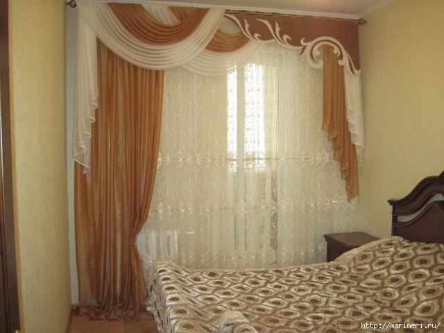 Ламбрекены для спальни фото
