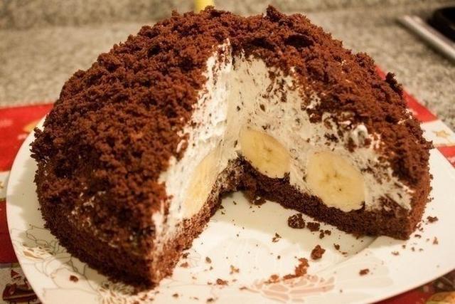 Рецепт торта с бананом