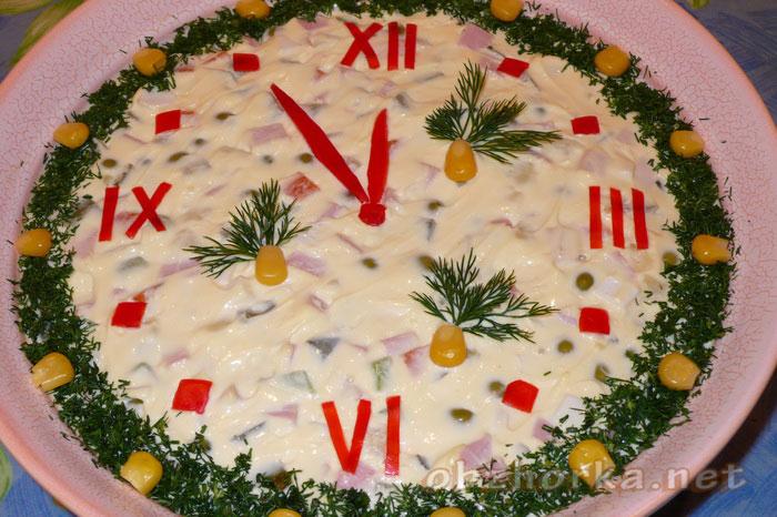 Украшаем салаты на новый год своими руками фото