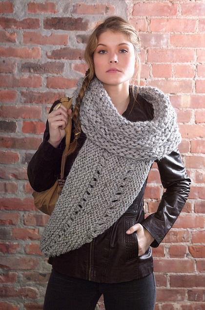 оригинальный шарф-хомут