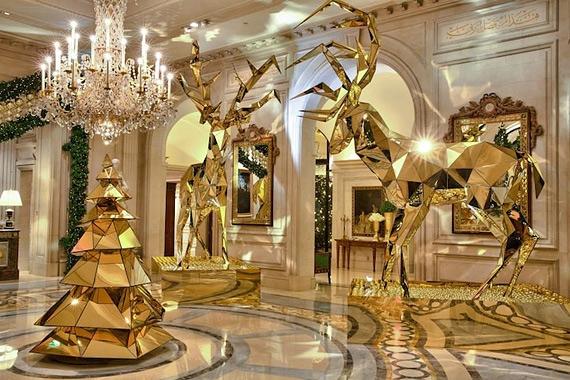 новогодний интерьер фото Four Seasons Hotel George V (570x380, 226Kb)