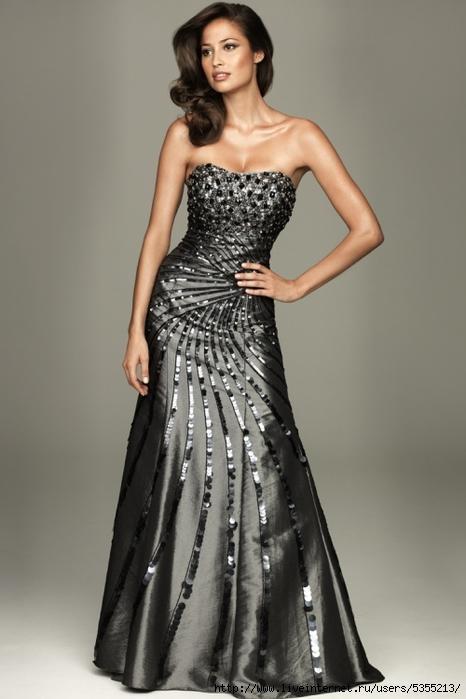 показ мод платье с кружевами