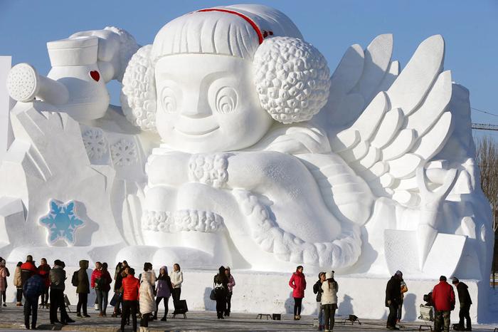 ледяные скульптуры харбина фото 1 (700x466, 309Kb)