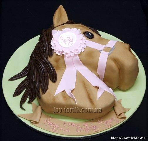 Марципановые торты. Лошади (27) (504x480, 106Kb)