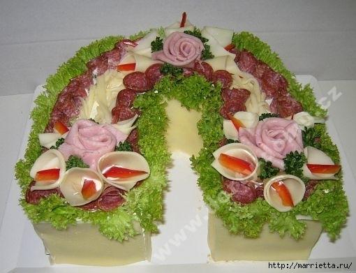 Pastel salado de Navidad.  Herradura (22) (510x391, 122Kb)