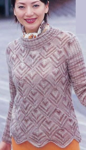 женского пуловера спицами