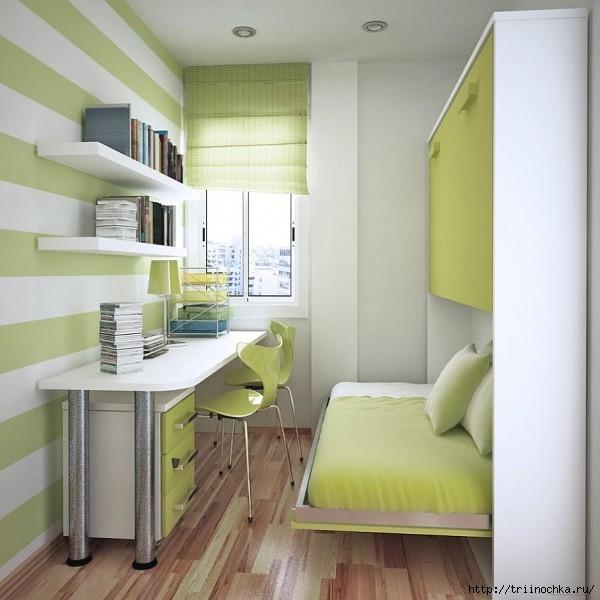 Фото дизайна узкой маленькой комнаты