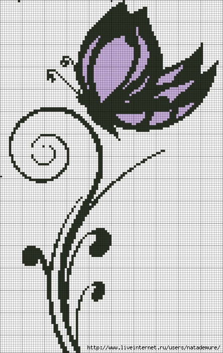 Птицы и бабочки - схемы