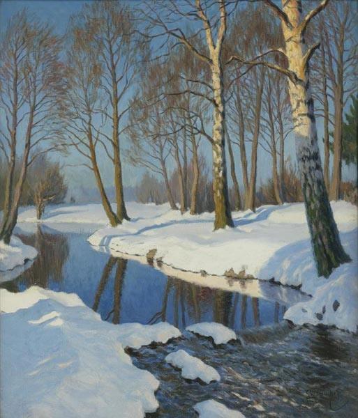 Гермашев М.М. Зима в лесу (513x600, 178Kb)