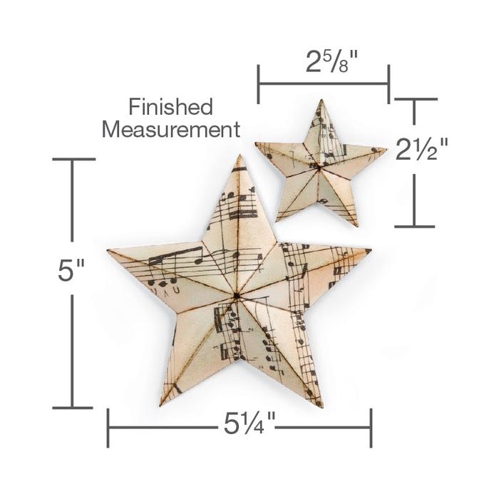Звезда из нотных страниц в винтажном стиле