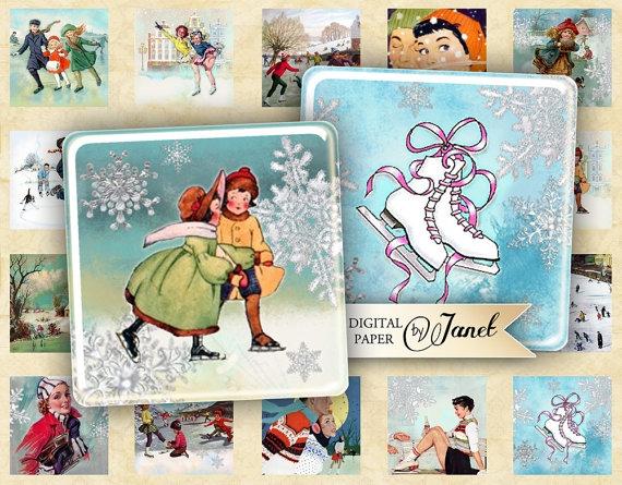 Винтажные картинки и идеи для создания подвесок, тэгов и рождественских гирлянд (26) (570x445, 238Kb)