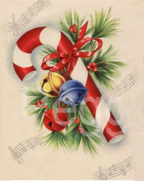 Винтажные картинки и идеи для создания подвесок, тэгов и рождественских гирлянд (30) (556x700, 215Kb)