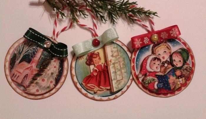 Винтажные картинки и идеи для создания подвесок, тэгов и рождественских гирлянд (36) (700x404, 213Kb)