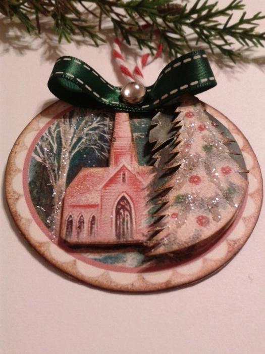 Винтажные картинки и идеи для создания подвесок, тэгов и рождественских гирлянд (38) (525x700, 267Kb)