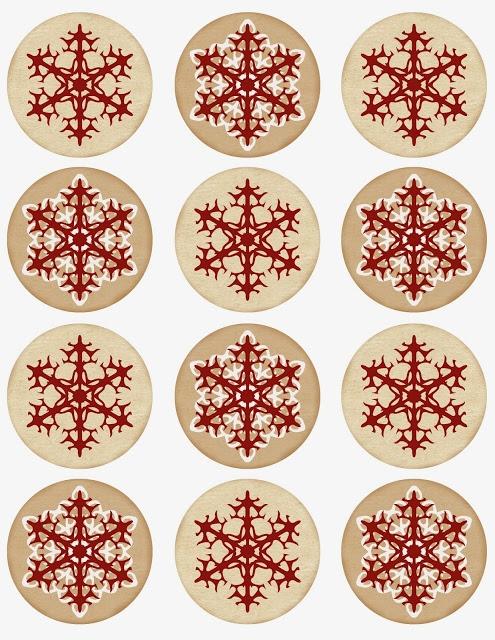 Винтажные картинки и идеи для создания подвесок, тэгов и рождественских гирлянд (44) (495x640, 302Kb)
