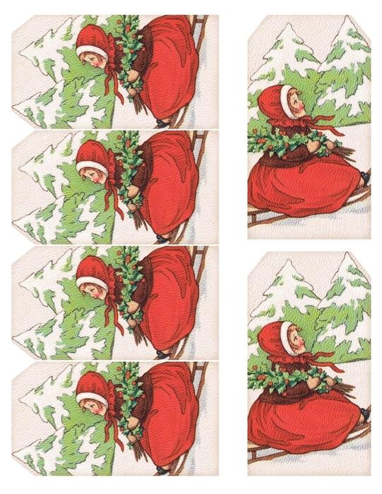 Винтажные картинки и идеи для создания подвесок, тэгов и рождественских гирлянд (46) (541x700, 319Kb)