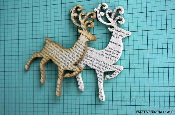 Олени новогодние своими руками из бумаги