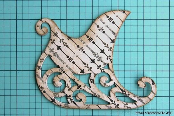 Сказочная карета и Северные олени из картона и бумаги (4) (596x396, 187Kb)