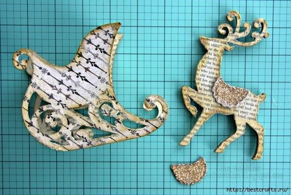 Сказочная карета и Северные олени из картона и бумаги (8) (595x398, 199Kb)