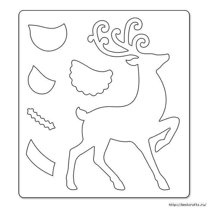 Сказочная карета и Северные олени из картона и бумаги (14) (700x700, 108Kb)