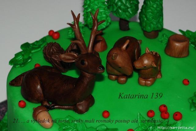 Фото мастер-класс по лепке ОЛЕНЯ для торта (21) (640x427, 117Kb)