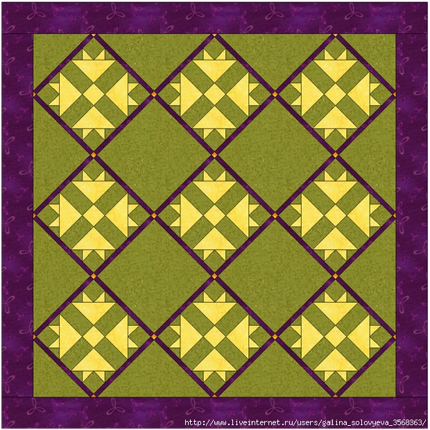 Cross and Crown Quilt (620x619, 389Kb)