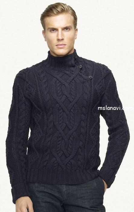 вязаный-пуловер-для-мужчин