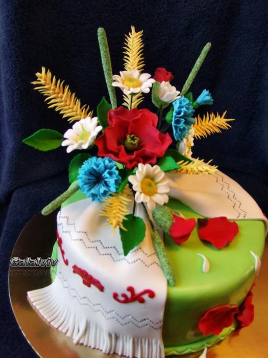 Торт вышиванка онлайн с фото
