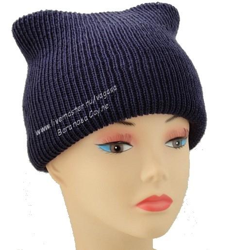 теплая шапка вязаная