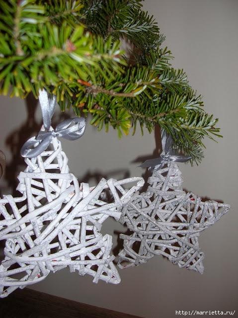 Новогоднее плетение из газет. ЗВЕЗДЫ из газетных трубочек (11) (479x640, 243Kb)