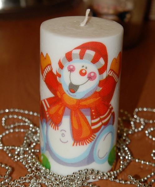 Свеча из салфеток своими руками 743