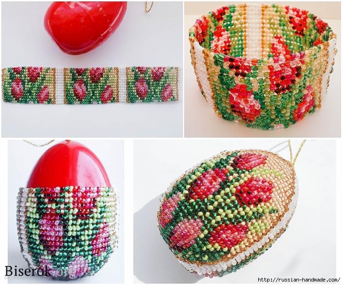 Бисерные цветочные пасхальные яйца (2) (700x583, 352Kb)