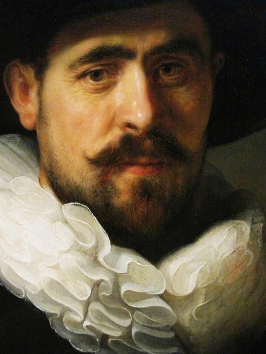 Portrait Of A Bearded Man In A Wide-Brimmed Hat (Detail) By Rembrandt, 1633 (525x700, 133Kb)