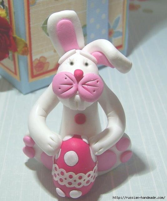 Как слепить кролика из полимерной глины. Фото мастер-класс (3) (534x641, 138Kb)