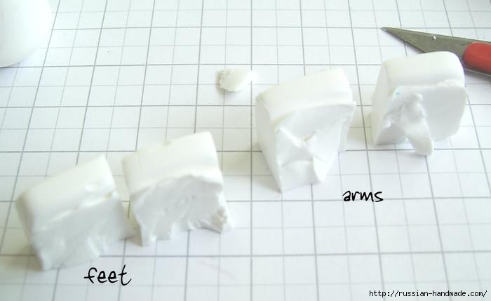 Как слепить кролика из полимерной глины. Фото мастер-класс (6) (700x429, 134Kb)