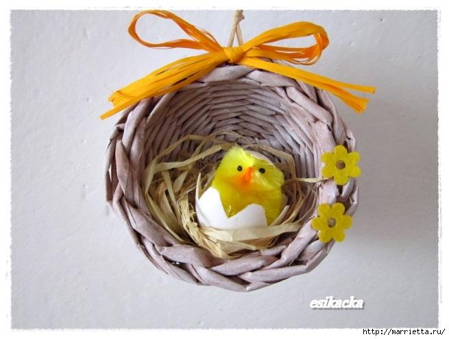 Пасхальные яйца из газетных трубочек. Идеи и мастер-класс (16) (655x494, 174Kb)