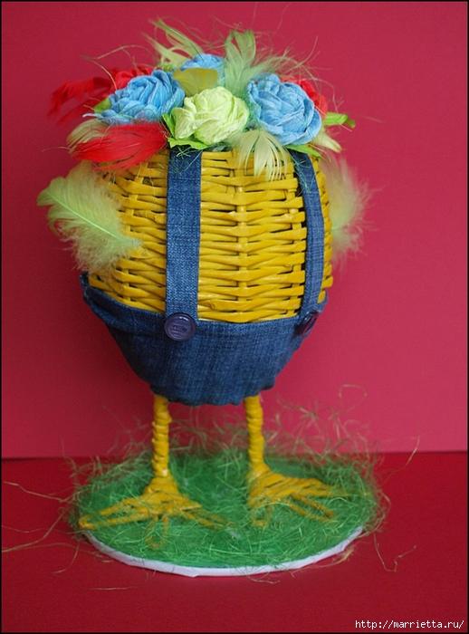 Пасхальные яйца из газетных трубочек. Идеи и мастер-класс (47) (518x700, 286Kb)