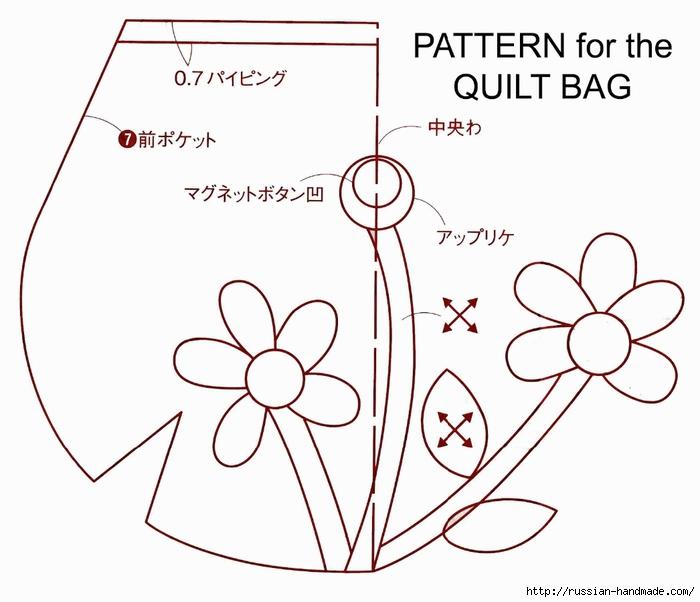 пэчворк. Шьем маленькую сумочку (2) (700x602, 166Kb)