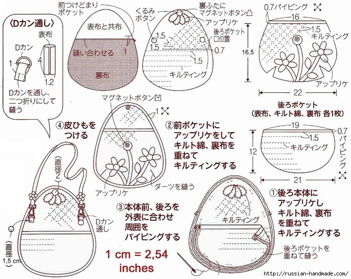 пэчворк. Шьем маленькую сумочку (4) (700x557, 334Kb)