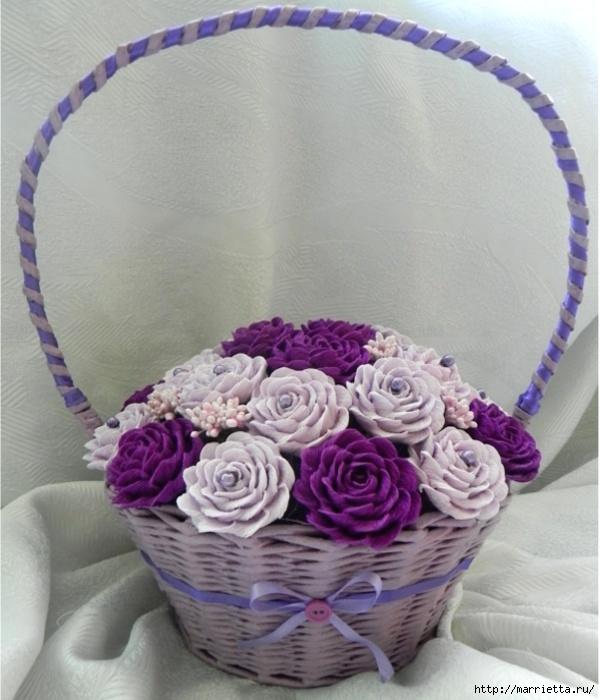 цветы из гофрированной бумаги (3) (600x700, 218Kb)