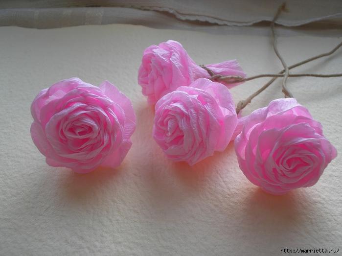 цветы из гофрированной бумаги (24) (700x523, 230Kb)