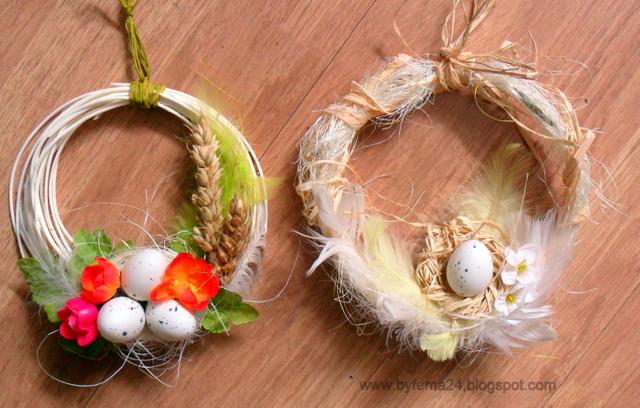 пасхальные яйца и перья (4) (640x408, 368Kb)