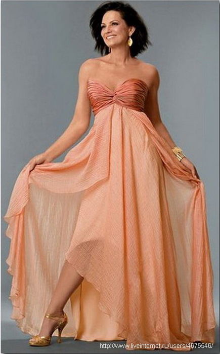 фото платьев с рисунками в пол