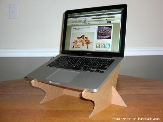 Из картона. Подставка для охлаждения ноутбука. Своими руками (4) (550x412, 104Kb)