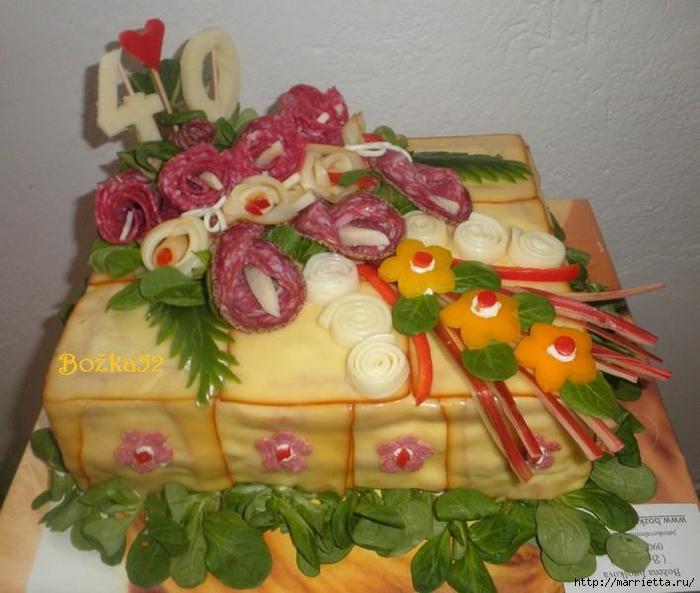 Соленый закусочный торт. Идеи оформления к ПАСХЕ (57) (700x593, 268Kb)