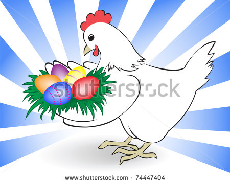 stock-vector-white-chicken-keeps-a-nest-with-colored-eggs-74447404 (450x358, 40Kb)